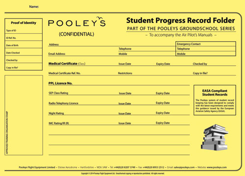 Student Progress Record Folder