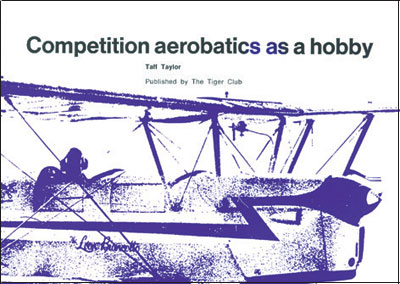 Competition Aerobatics as a Hobby - Taylor