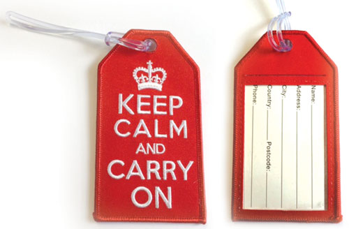 Keep Calm and Carry On – Baggage Tag / Key Ring