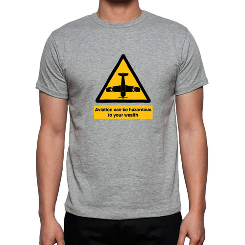 Hazard Flight T-Shirt – GREY