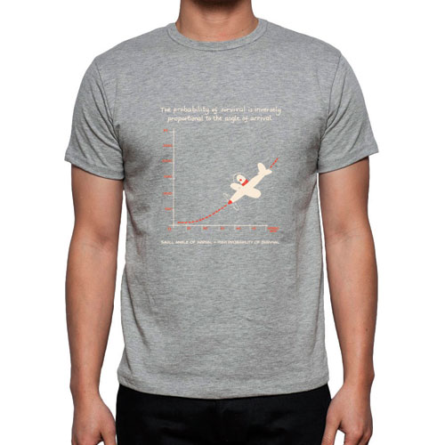 Angle of Arrival Flight T-Shirt – GREY