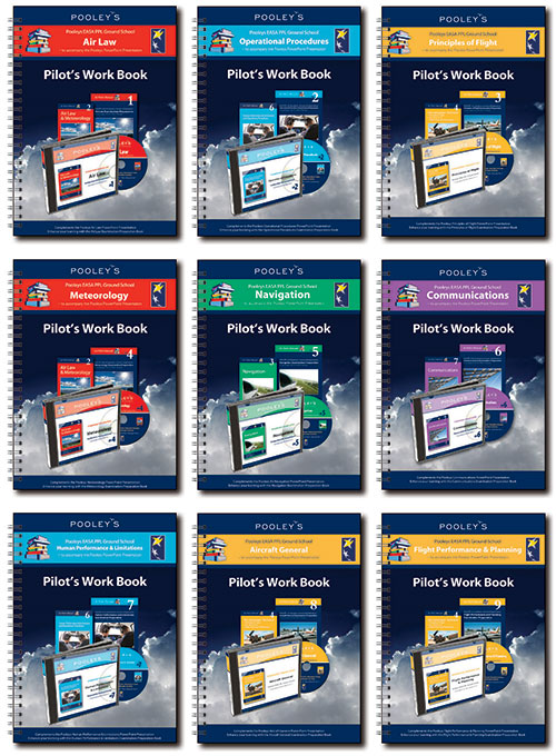 Pooleys Air Presentations – Instructor's Work Books 1-9 Bundle (Full-Colour with text)