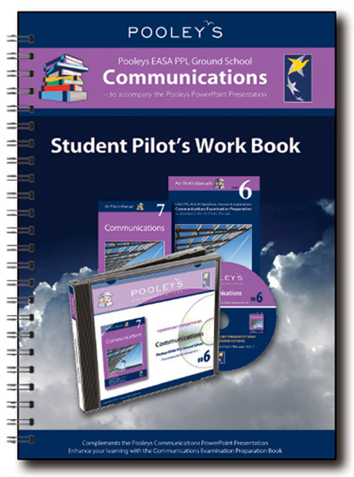 Pooleys Air Presentations – Communications Student Pilot's Work Book (b/w, with spaces for answers)