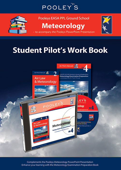 Pooleys Air Presentations – Meteorology Student Pilot's Work Book (b/w with spaces for answers)