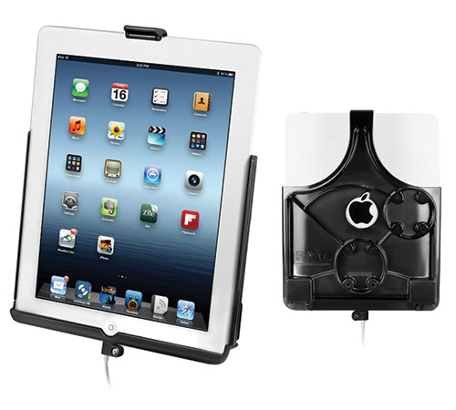 Holder for Apple iPad 4 docking (lightning connector)