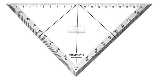 PP-8  Triangular Track Line Protractor