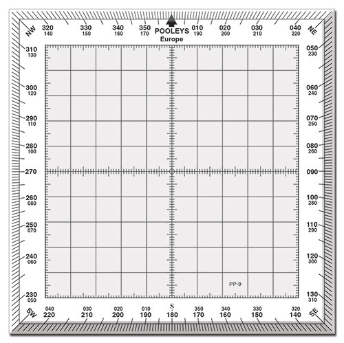 PP-9 Square Protractor with White Border