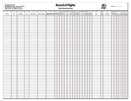 Record of Flights Operation Pad with HOBS column