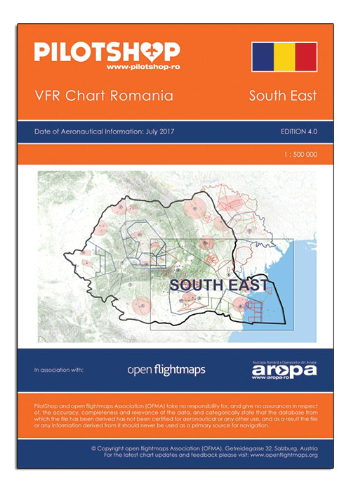 Romania VFR 1:500 000 Chart – South East