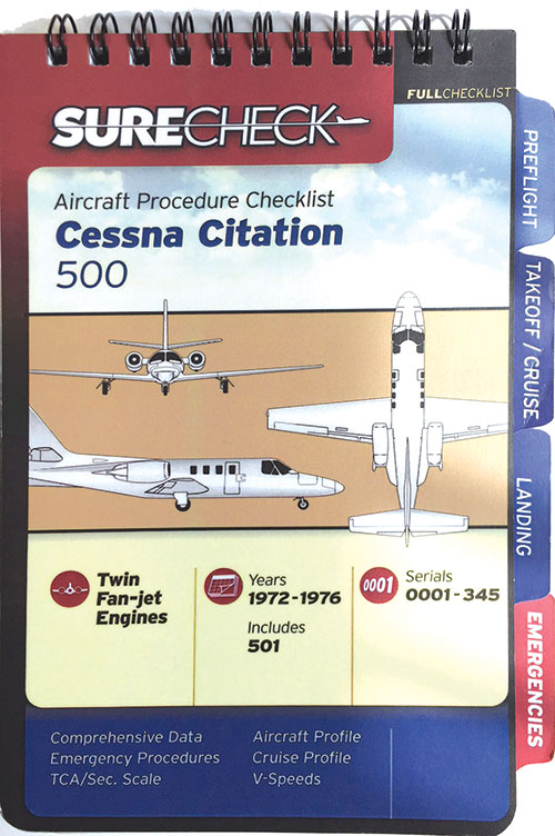 Cessna Citation 500 Checklist