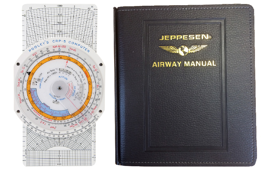 Combination CRP-5W Computer and Jeppesen General Student Pilot Route Manual