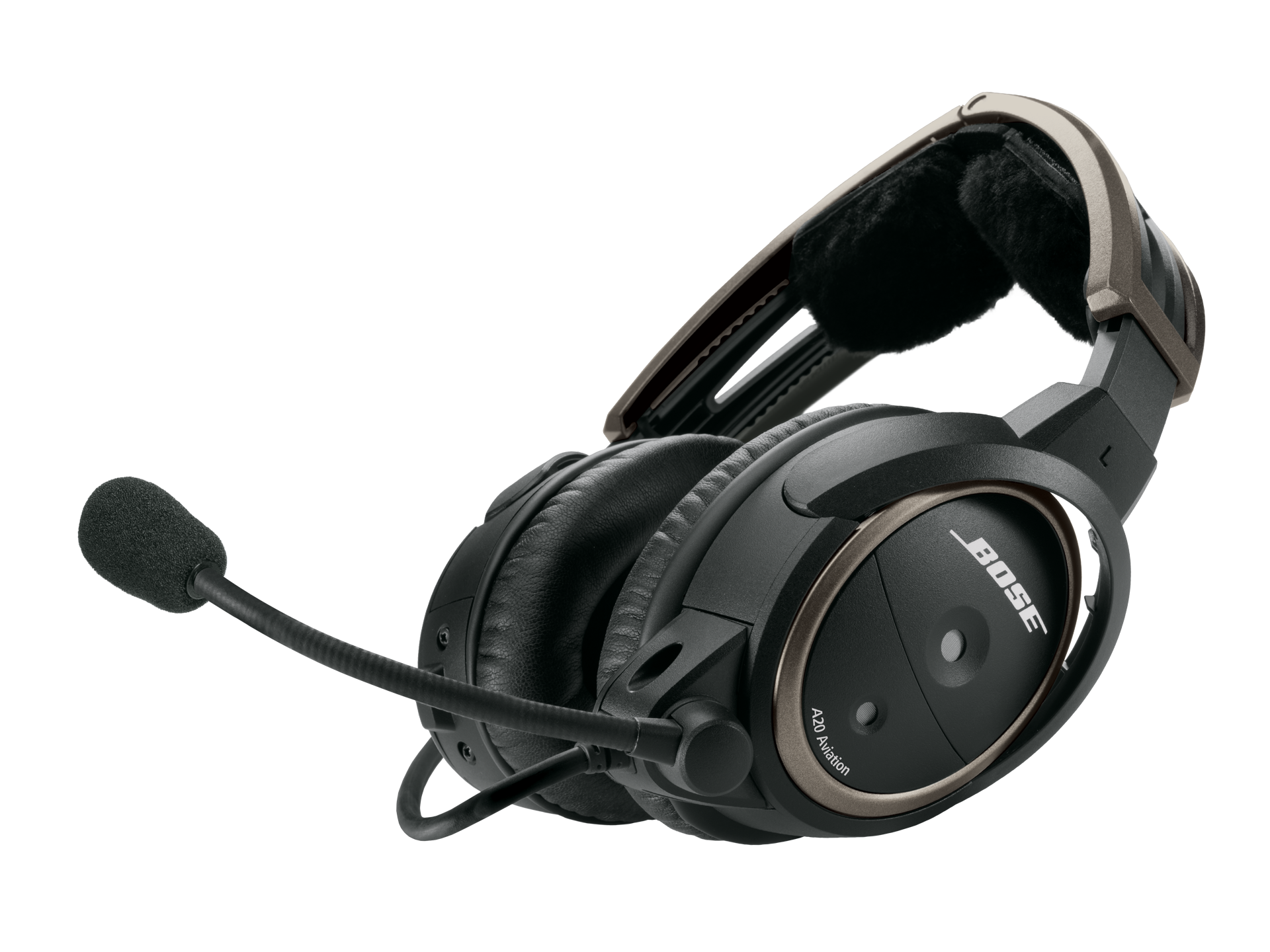 Bose A20 Headset with Fischer Plug, Non-Bluetooth, Battery Powered, Straight Cable, Lo Imp (324843-2150)