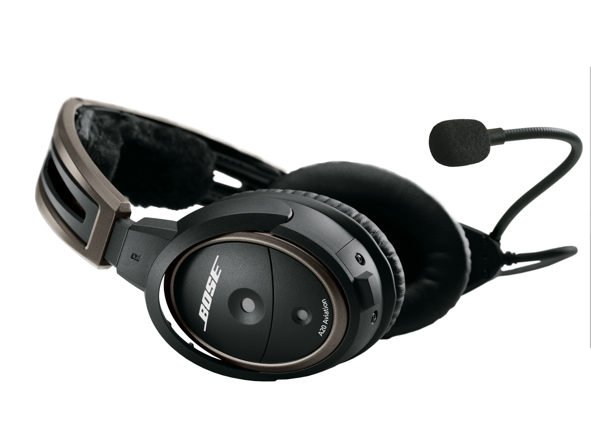 Bose A20 Headset with 6-pin LEMO Plug, Non-Bluetooth, Panel and Battery Powered, Straight Cable, Hi Impedance (324843-2040)