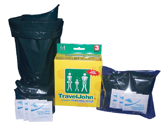 Resealable Industrial Strength Green Travel John Urinal 3 Pack