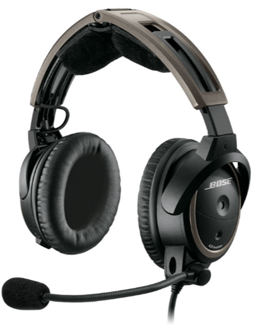 ANR - Bose A20 Fixed-Wing Headset with Twin Plugs, Bluetooth, Battery Powered, Hi Imp (324843-3020)