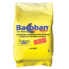 Bacoban for Aerospace Pack of 25 Wipes